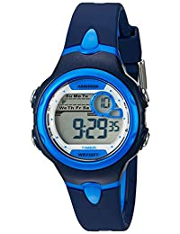 Armitron Sport Women's 45/7074NVY Light Blue Accented Digital Chronograph Navy Blue Resin Strap Watch