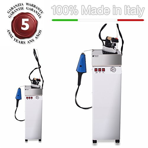 EOLO Steam generator with double attachment for steam brush and iron with energy saving copper boiler and external anti-scale resistor AV01 RA Pro1- 110-120 Volts by EOLO H&P