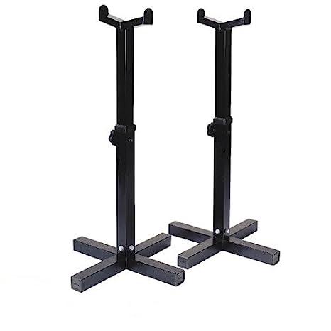 RS Sports – Pesas estante/soporte para mancuernas, – Negro – Metal – 45