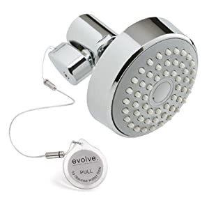Evolve Showerheads SS-2107CP-US Roadrunner II Water-Saving Shower-Head, Chrome Polish