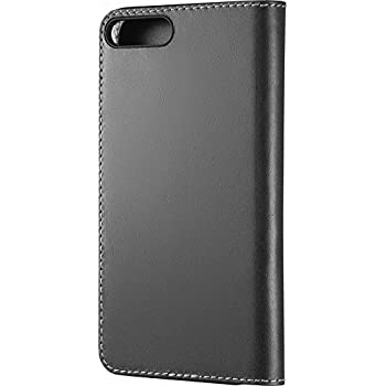 Platinum Genuine American Leather Folio Case for Apple iPhone 8 Plus and iPhone 7 Plus - Charcoal - Model: PT-MA7SPSBLWB