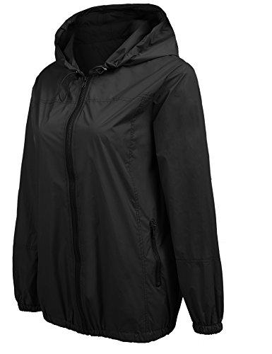 f8edf6a040e Beyove Women s Lightweight Rain Jacket Waterproof Hood Fashion Outdoor Rain  Coat S-XXL