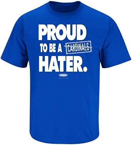 S-5X Smack Apparel Kentucky Fans Proud to Be A Hater Blue T-Shirt