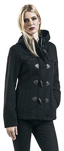 Brandit Coat Femme Manteau Noir Girls Duffle noir rOUqrn7