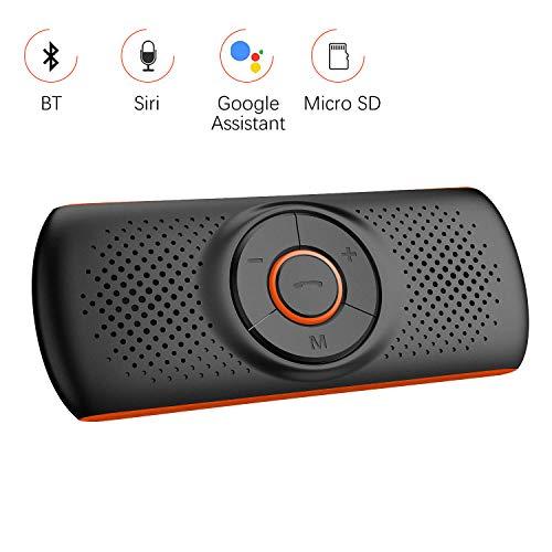 🥇 Aigoss Manos Libres para Coche Bluetooth 4.2 con Siri y Google Assistant