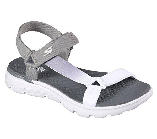 Skechers Damen On The Go 400 Jazzy Sandale Hellgrau / Weiß