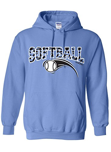 Sports Katz Womens 'Zebra' SOFTBALL Hoodie Columbia Blue Medium