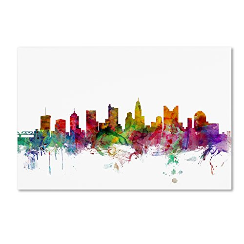 picture of Trademark Fine Art Columbus Ohio Skyline by Michael Tompsett, 22x32-Inch