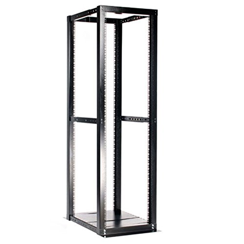 StarTech.com 42U 4 Post Open Frame Server Rack - Adjustable Floor Standing Data Rack - Computer / Network Cabinet (4POSTRACKBK) (Server Computer Rack)