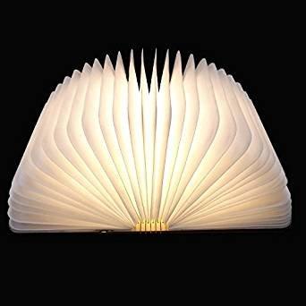 LED Plegable Lámpara del Libro, Ambiental Lámpara LED Recargable de 2000mAh, Lámpara LED con 5 Colores, para Luz de Lectura, Lámpara de Pared Lámpara ...