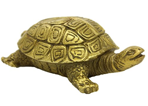 Brass Turtle - Chinese Handmade Brass Turtle Figure Home Decorative Ornament Collectible