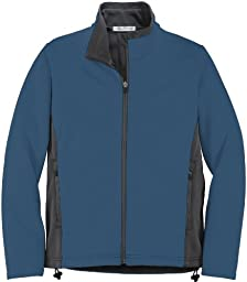 Port Authority - Ladies Two-Tone Soft Shell Jacket. L794 - Large - Navy / Graphite