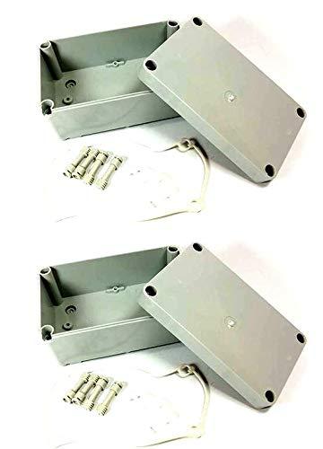 Caja de conexión de plástico impermeable, gris, 2