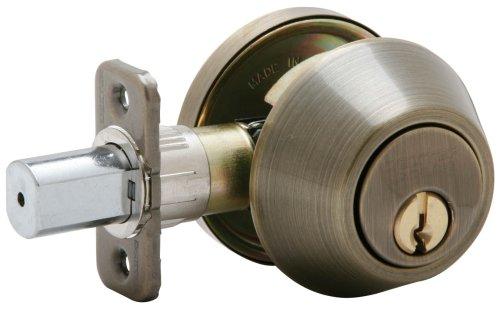 Schlage JD60V609 Single Cylinder Deadbolt Antique product image