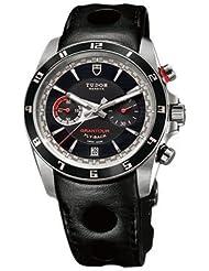 Tudor Grantour Chrono Fly-Back Black Dial Mens Watch 20550N-BKLPL