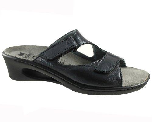 Mobils-Chaussure Mule-CARINA Noir cuir 10100-Femme