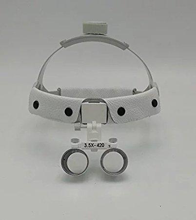Zgood Headband Surgical Medical Binocular Loupes 3.5X420mm Dental Lab Equipment DY-108 White
