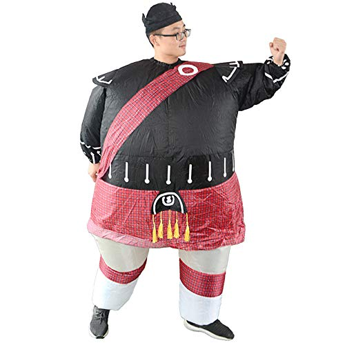 HHARTS Warrior Shaped Inflatable Costume Blow up Fancy Dress Costume for Halloween Cosplay Party Christmas]()