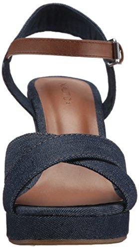 Nautica Women's Longshore Wedge Sandal Peacoat Denim