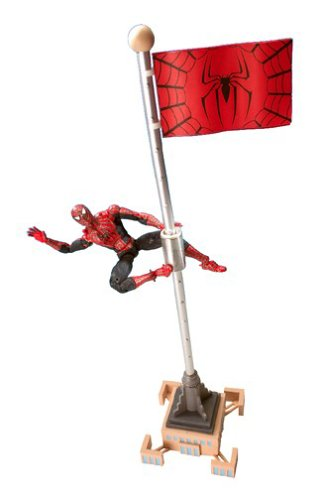 (Spider-Man Spider-Man 2: The Movie Magnetic Spider-Man Action Figure with Spiral Spinning Action)