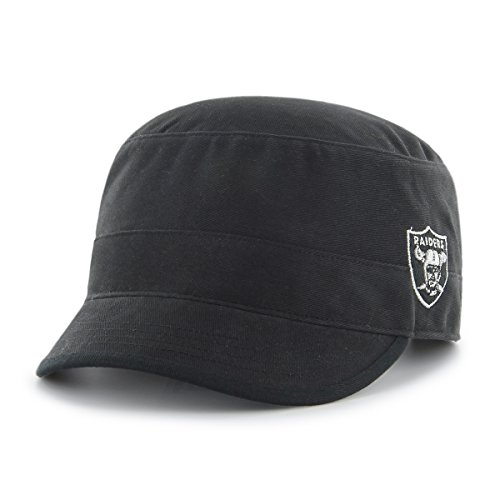 NFL Oakland Raiders Women's Shipmate OTS Cadet Military-Style Adjustable Hat, Black, Women's (Raider Hats For Women)