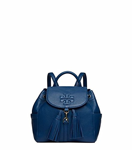 a2d86617e68 Amazon.com: Tory Burch Thea Mini Backpack Bag Leather Tidal Wave Navy Blue:  Shoes