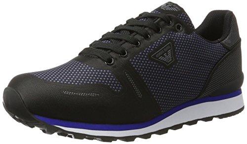 Armani Sneaker Low Cut, Scarpe Basse Uomo Nero (Nero)