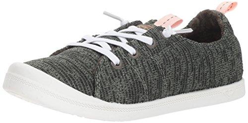 (Roxy Women's Bayshore Sport Slip On Shoe Fashion Sneaker, Olive, 5 M US)