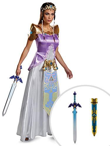 Princess Zelda Costume Kit Deluxe Adult XL with Sword -