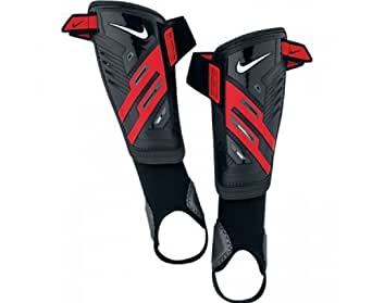Nike Youth Protegga Shield - Tobillera unisex infantil, color negro / rojo / blanco, talla S