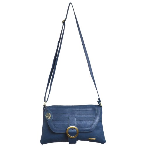 Over Body Brown Fold Navy Flap Tan Dark Fawn Clasp With Buckle Ladies Cross Bag Shoulder Leather Black Feature Magnetic 1gTxwg0ZIq