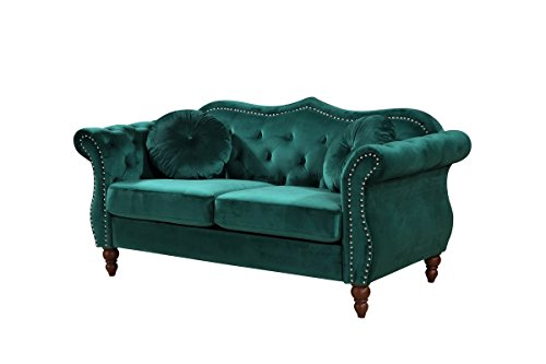 Container Furniture Direct S5367-L Anna1 Loveseat, Green
