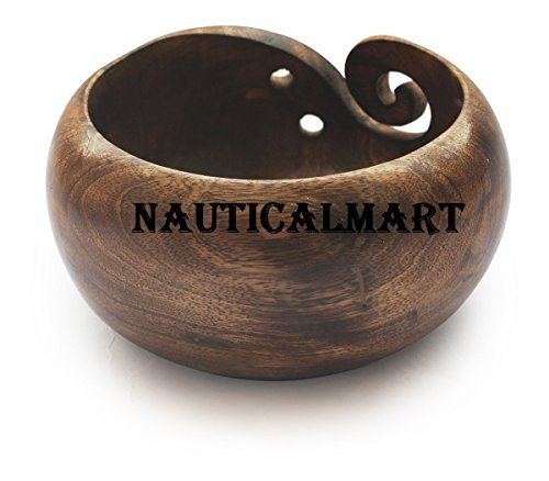 NauticalMart Deal for The Day - AB Handicrafts - Mango Wooden Yarn Bowl 6 inch for Knitting, Crochet for Moms, Grandmothers by NAUTICALMART (Image #2)