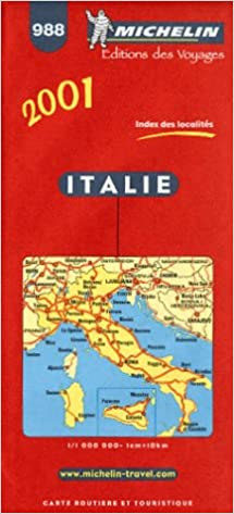 Amazon Fr Carte Routiere Italie 988 1 1000000 Carte Michelin Livres