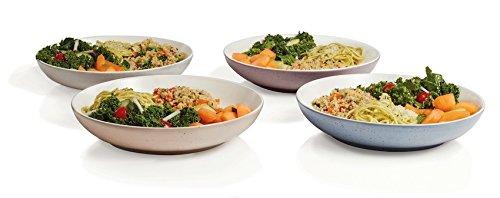 Libbey Urban Story 4-piece MultiColor Ceramic Entree Bowl Set