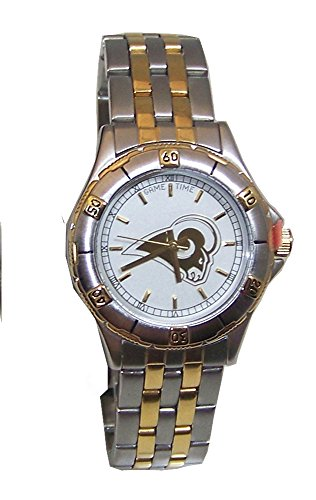 NFL Rams Watch Game Time Gold Logo Womens Wristwatch