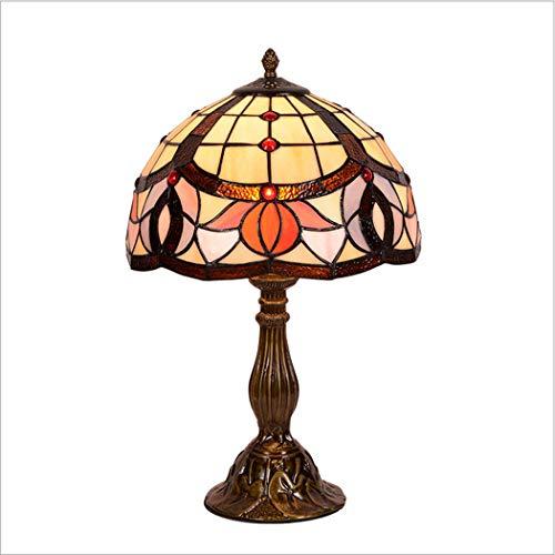 Lámpara de mesa de estilo Tiffany 12 pulgadas pantalla de ...