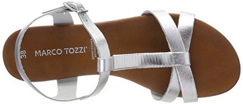 MARCO TOZZI premio Women's 28629 Sling Back Sandals Silver (Silver 941) UjaQL
