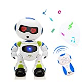 HANMUN Electronic Remote Control RC Robots Walking Dancing Smart Robotics with Music Lights
