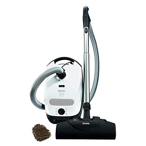 Miele Classic C1 Cat & Dog Canister Vacuum Cleaner, 41BBN031USA (Complete Set) w/Bonus: Premium Microfiber Cleaner Bundle