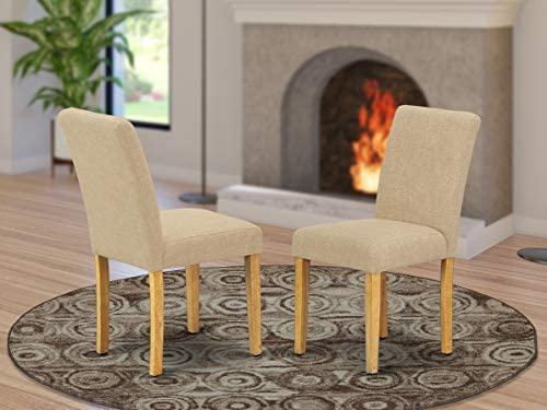 East West Furniture Parsons Chairs Set of 2