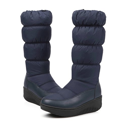 Schnee Proof Snow Schnee Stiefel Cotton Boots Stiefel Student Blau Stiefel Frauen Down HONGANG Casual Zw5qUU