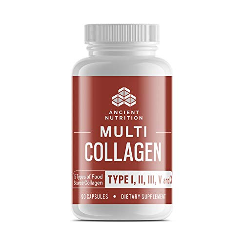 Ancient Nutrition Multi Collagen, 90 Capsules – High-Quality Blend of Grass-Fed Beef, Chicken, Wild Fish and Eggshell Collagen Peptides, Providing Type I, II, III, V and X Review