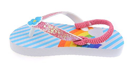 3d Flip Flop Sandal - Wonder Girls Beach Sandals Flip Flop Rainbow Glitter Toddler and Girl Sizes 5 6 7 8 9 10 (7-8)