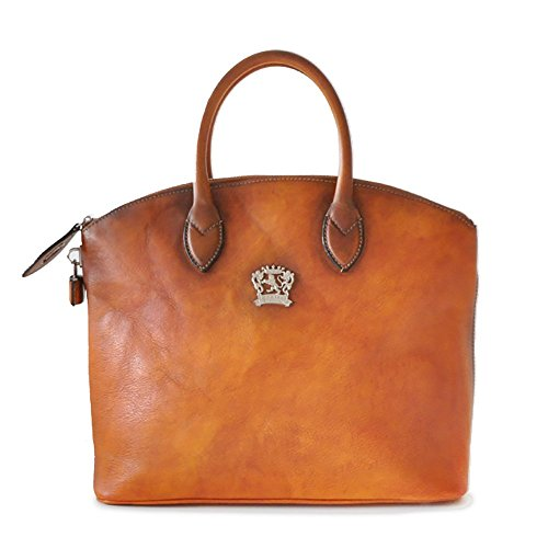 Pratesi Womens Italian Leather Versilia R Woman Cross body Handbag in Cognac