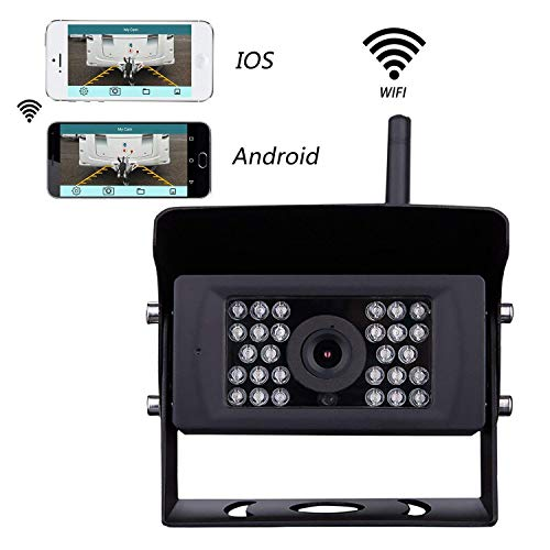 FOOKOO Wireless Backup Camera for Truck,RV,Camper,Trailer. WiFi Backup Camera Work with iPhone, ipad or Andriod Devices APP602