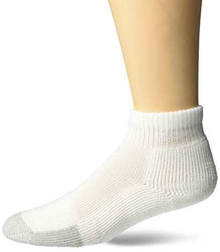 Thorlos Unisex TMX Tennis Thick Padded Ankle Sock, Large, White Tan