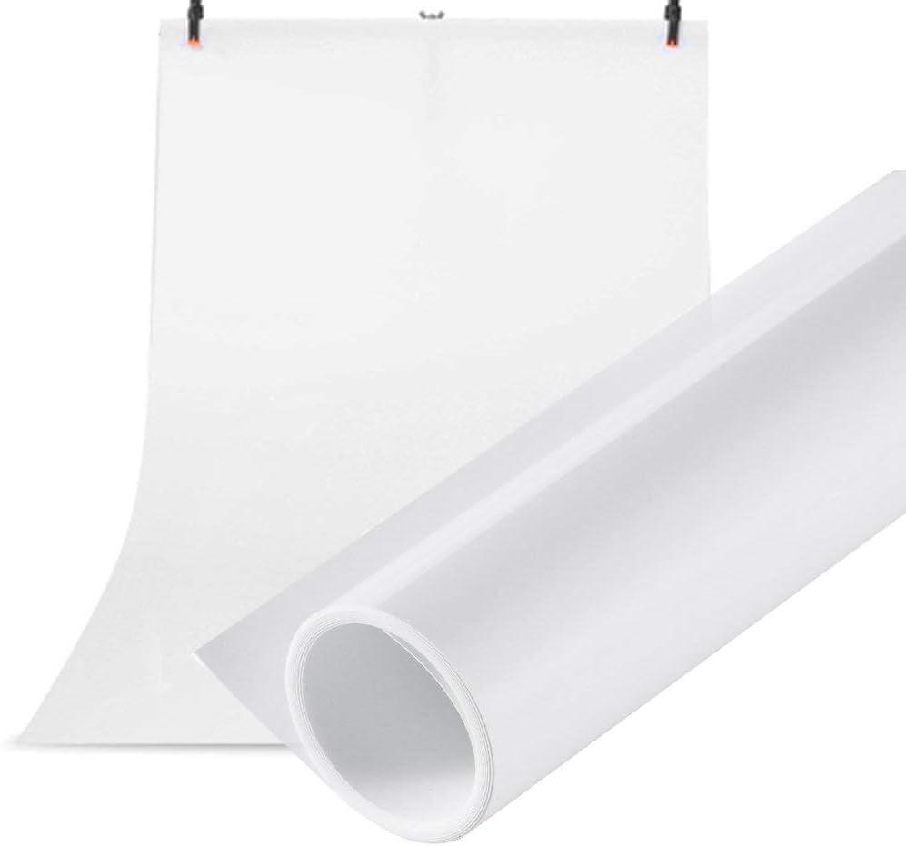 Selens 60x130CM Telón de Fondo PVC Vinilo Blanco Backdrop Background para Fotografía Estudio Fotográfico Fotógrafo Comida Photo Studio Photography