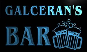 w118441-b GALCERAN Name Home Bar Pub Beer Mugs Cheers Neon Light Sign