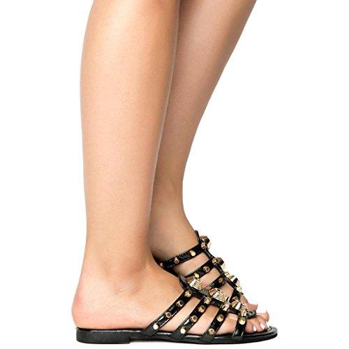 Sandalo Aperto Da Donna Vintage Con Plateau E Punta Aperta
